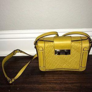 Rebecca Minkoff Mustard Yellow Texture Box Purse